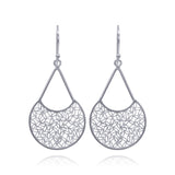 FUSION MEDIUM EARRINGS  FILIGREE SILVER & GOLD - Olmox