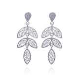 LORRAINE EARRINGS FILIGREE SILVER & GOLD - Olmox