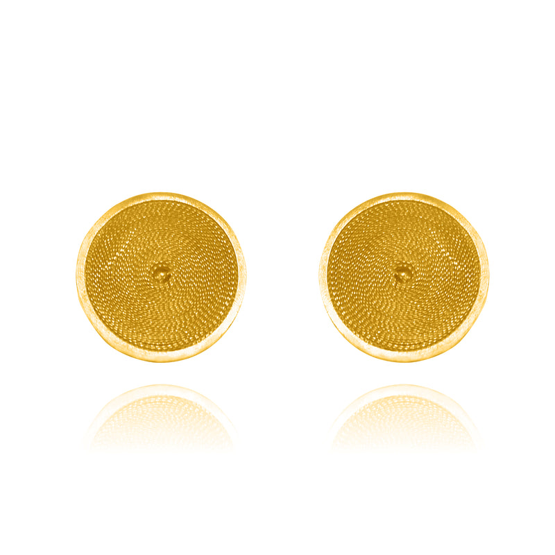AMA STUD EARRINGS SOLID GOLD 18K - Olmox