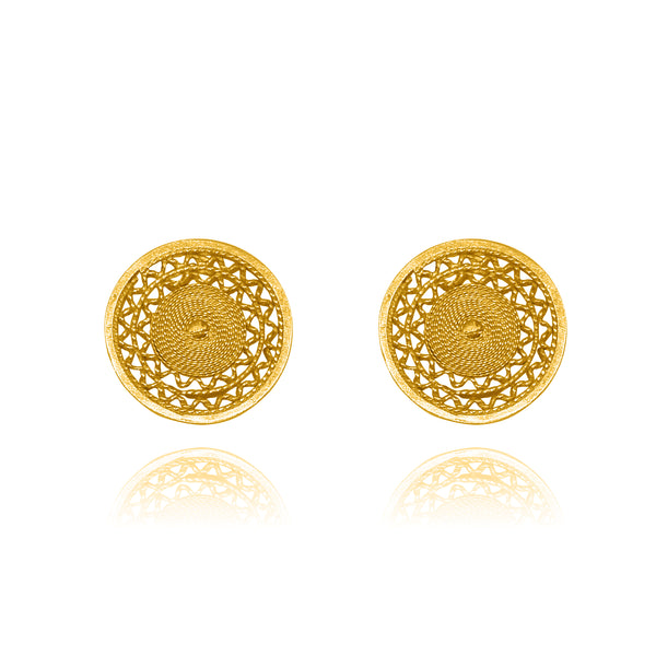 ANA STUD EARRINGS SOLID GOLD 18K - Olmox