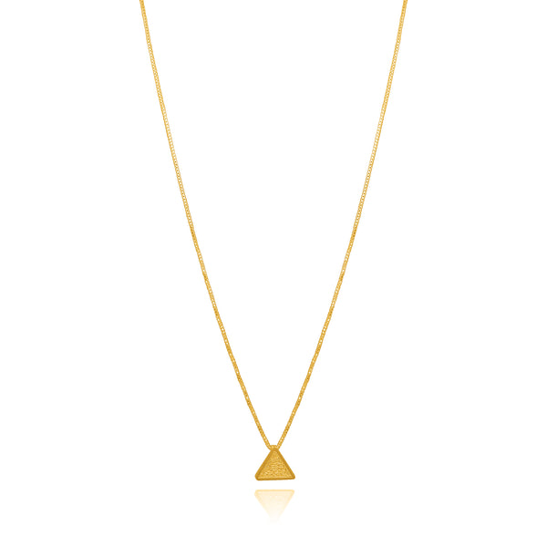 PILI NECKLACE PENDENT GOLD - Olmox