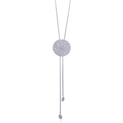 BECKY NECKLACE LONG SILVER - Olmox