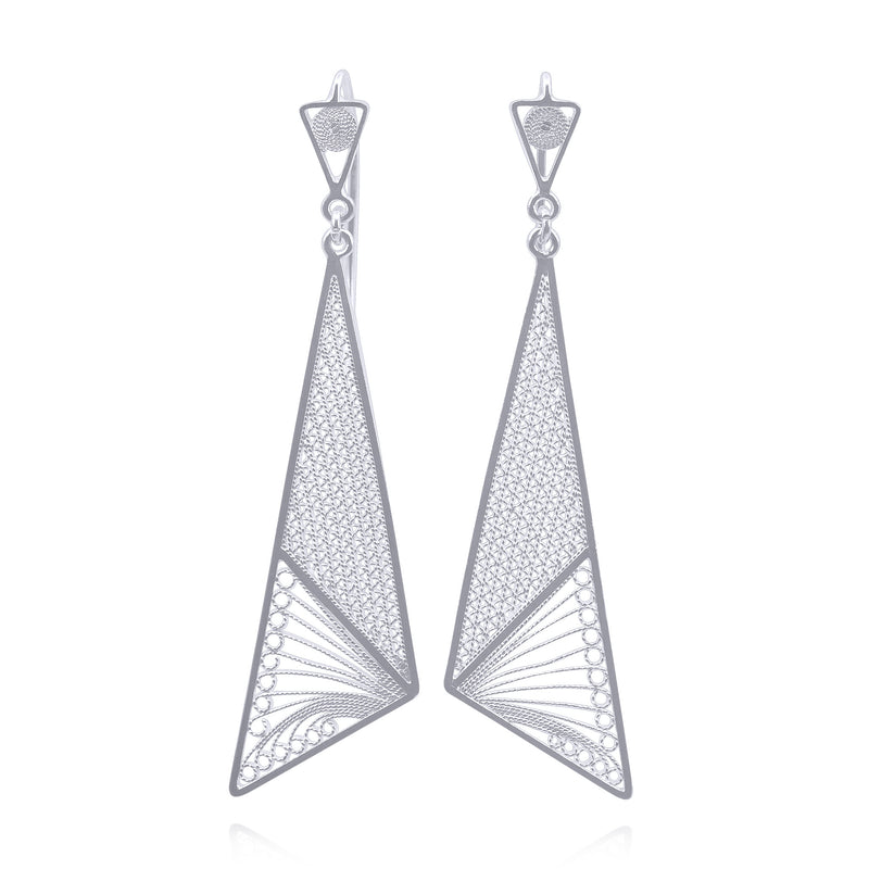 CHARLOTTE MEDIUM EARRINGS FILIGREE SILVER & GOLD - Olmox