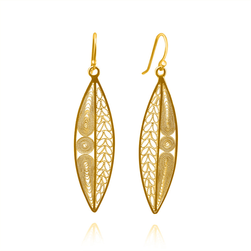 OLIVIA MEDIUM EARRINGS FILIGREE SILVER & GOLD - Olmox