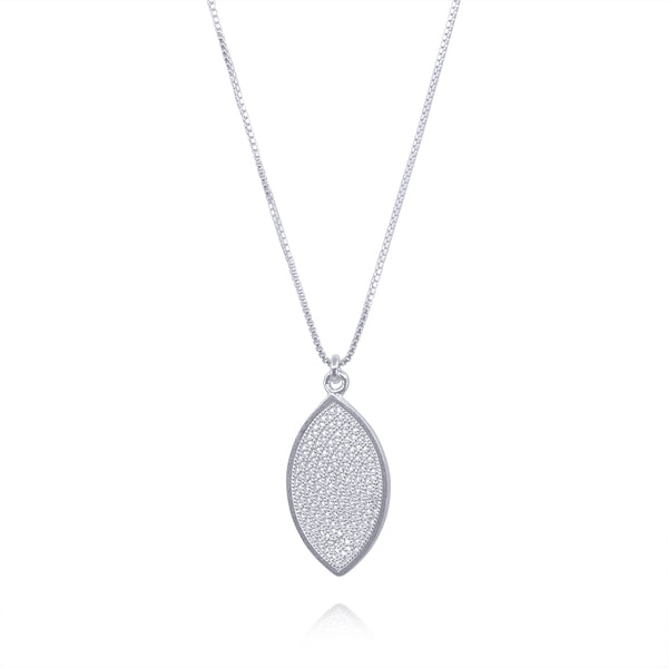 EDEN SMALL PENDANT NECKLACE FILIGREE SILVER & GOLD - Olmox