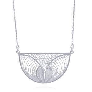 SERENITY LONG NECKLACE FILIGREE SILVER & GOLD