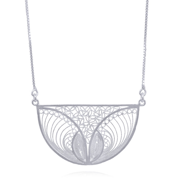 SERENITY LONG NECKLACE FILIGREE SILVER & GOLD - Olmox