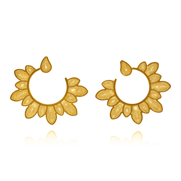 MIMI MEDIUM FILIGREE EARRINGS SILVER, GOLD, ROSE GOLD - Olmox