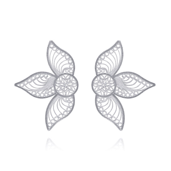 GRETA MEDIUM FILIGREE EARRINGS SILVER, GOLD, ROSE GOLD - Olmox