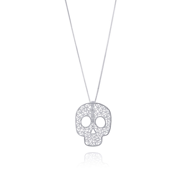COCO SKULL PENDANT NECKLACE SILVER, GOLD, ROSE GOLD - Olmox