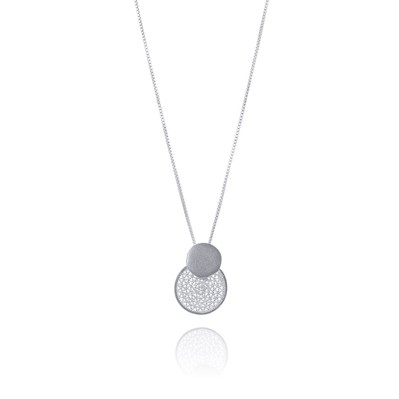 BLANCH PENDANT NECKLACE SILVER, GOLD, ROSE GOLD - Olmox