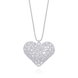 KATE HEARTS SMALL PENDANT NECKLACE FILIGREE SILVER & GOLD - Olmox