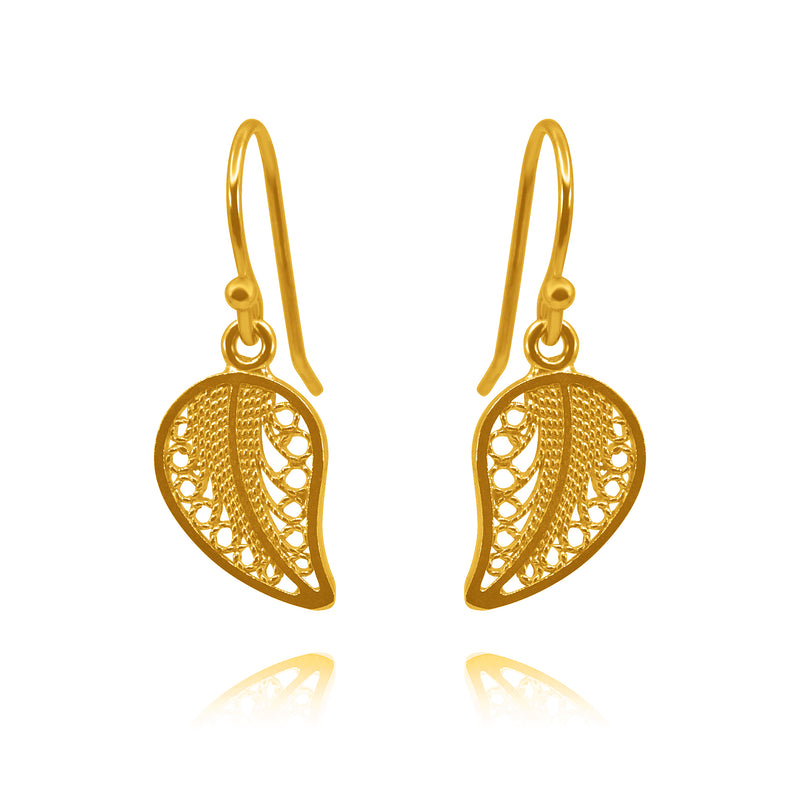 BEATRIX SMALL EARRINGS FILIGREE SILVER & GOLD - Olmox