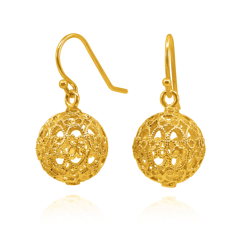 LUCRECIA SMALL EARRINGS FILIGREE SILVER & GOLD - Olmox
