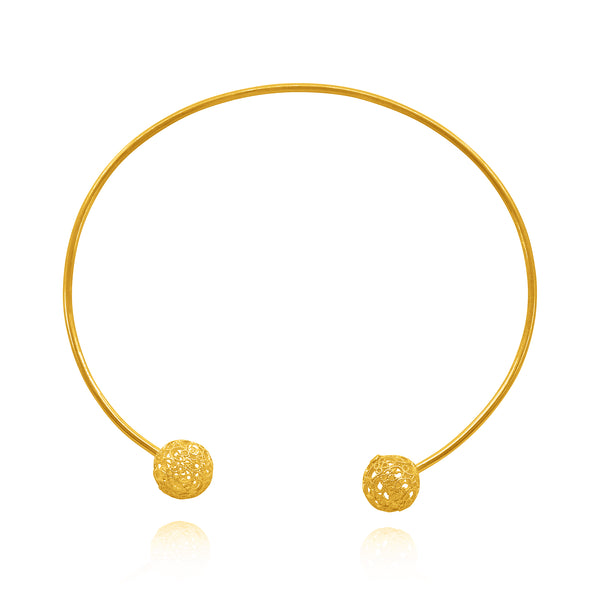 LUCRECIA SMALL CHOKER NECKLACE FILIGREE SILVER & GOLD - Olmox