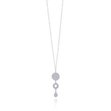 VIVIAN SMALL LONG NECKLACE FILIGREE SILVER & GOLD - Olmox