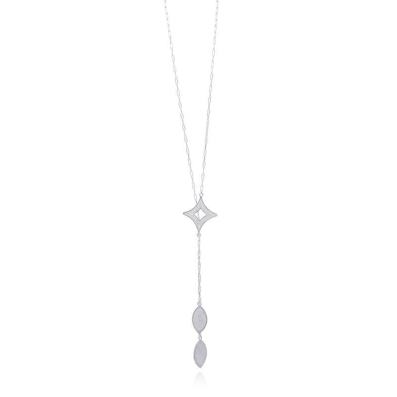 ADDISON DOBLE LONG NECKLACE FILIGREE SILVER & GOLD - Olmox