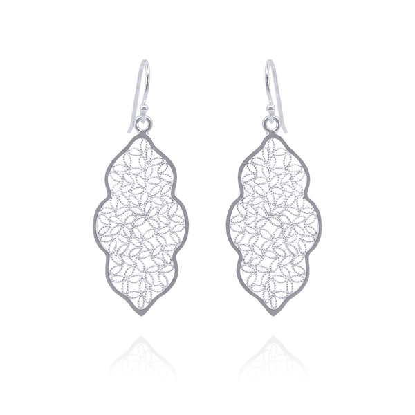 MIRANDA MEDIUM EARRINGS FILIGREE SILVER GOLD - Olmox