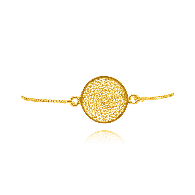 MELI SMALL DREAM CATCHER ADJUSTABLE BRACELET FILIGREE SILVER & GOLD - Olmox