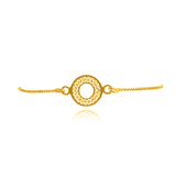 VALERIA EXTRA SMALL ADJUSTABLE BRACELET FILIGREE SILVER & GOLD - Olmox