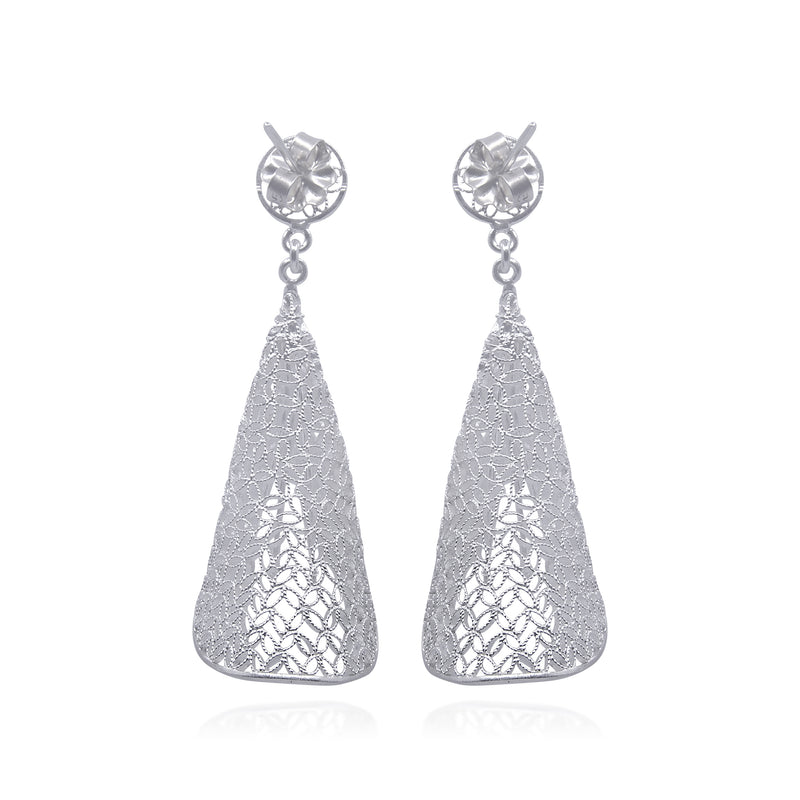 MATILDA LARGE EARRINGS FILIGREE SILVER & GOLD