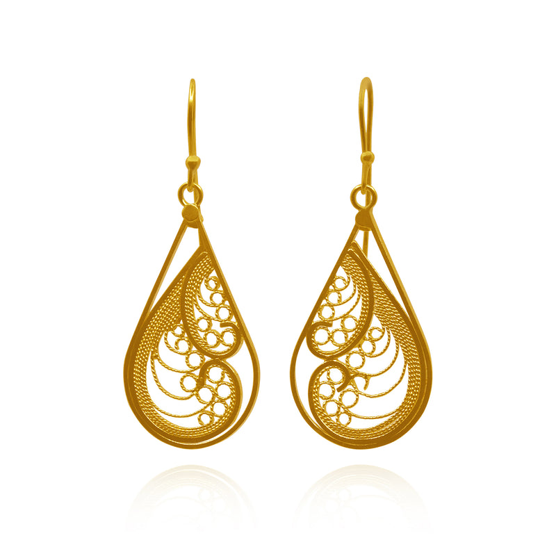 WAVE EARRINGS SOLID GOLD 18k