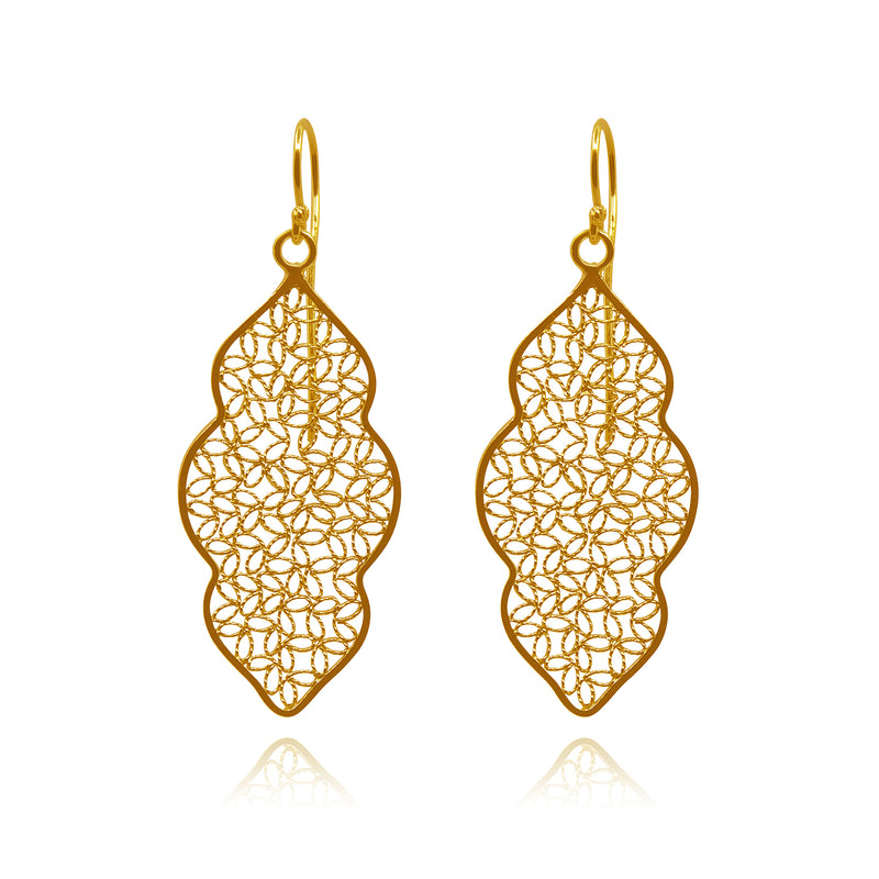 MIRANDA EARRINGS SOLID GOLD 18K