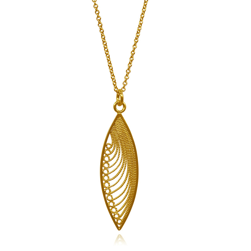 KHAYA MEDIUM PENDANT SOLID GOLD 18K