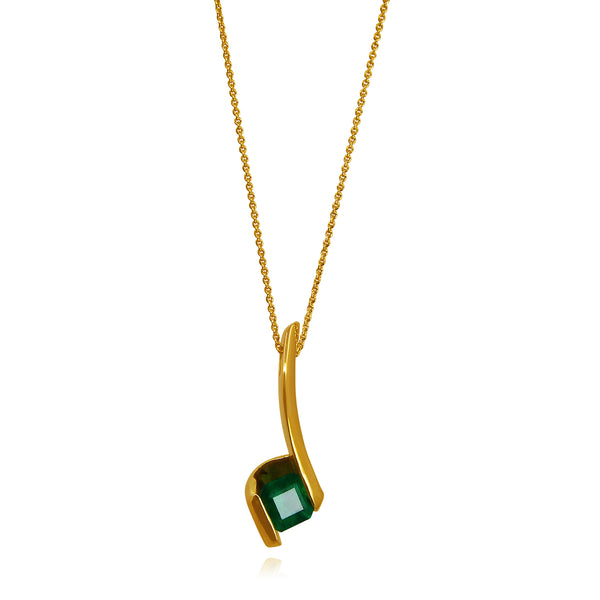 MARIANA EMERALD PENDANT SOLID GOLD 18K