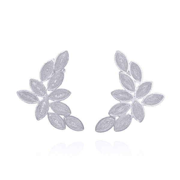 SALOMON SMALL EARRINGS FILIGREE SILVER &  GOLD - Olmox