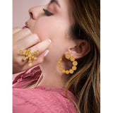 DAKOTA BIG FILIGREE EARRINGS SILVER, GOLD, ROSE GOLD - Olmox