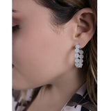 EMELINE MEDIUM FILIGREE HOOPS EARRINGS SILVER, GOLD, ROSE GOLD - Olmox