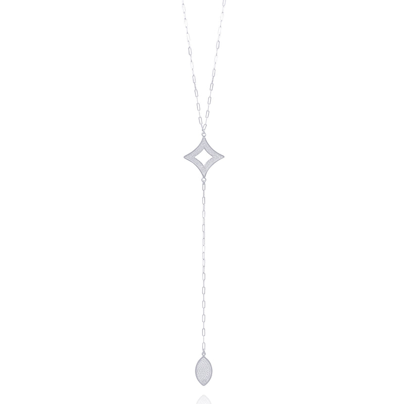 ADDISON SINGLE LONG NECKLACE FILIGREE SILVER & GOLD - Olmox