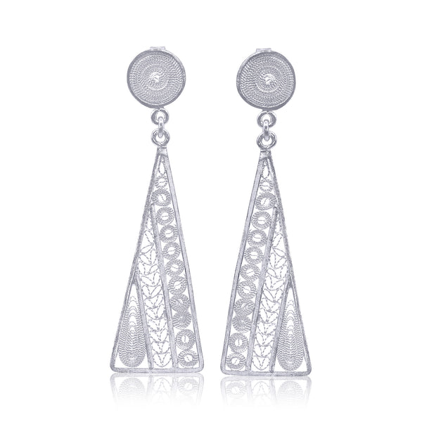 Adela earrings silver filigree jewelry handmade by olmox made in usa houston chicago san francisco
