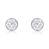 ALICE STUD EARRINGS FILIGREE SILVER & GOLD - Olmox