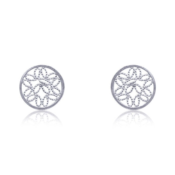 ALICE STUD EARRINGS FILIGREE SILVER GOLD - Olmox