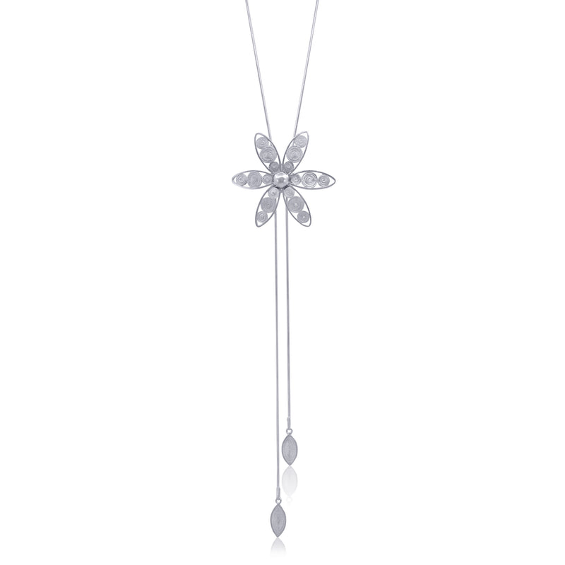 ANNIE NECKLACE LONG SILVER - Olmox