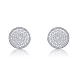 ANTONIA STUD EARRINGS FILIGREE SILVER, GOLD - Olmox