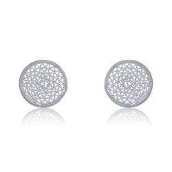 ANTONIA STUD EARRINGS SILVER - Olmox