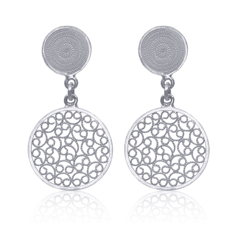 CATALINA EARRINGS SILVER - Olmox