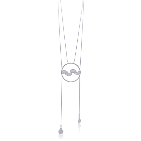 CELESTE NECKLACE LONG SILVER - Olmox
