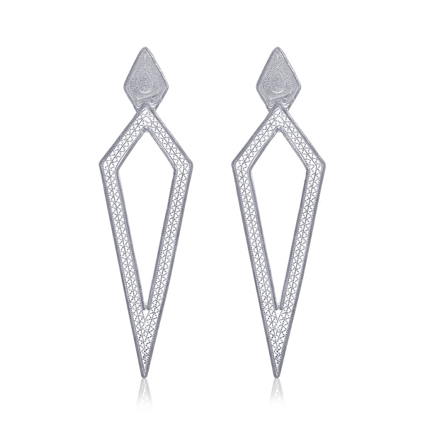DAGA LARGE EARRINGS SILVER - Olmox