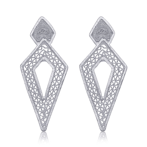 DAGA SMALL EARRINGS SILVER - Olmox