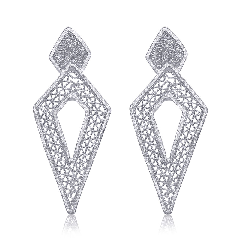 DAGA SMALL EARRINGS FILIGREE SILVER & GOLD - Olmox