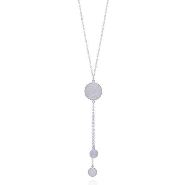 DEBBIE NECKLACE LONG SILVER - Olmox