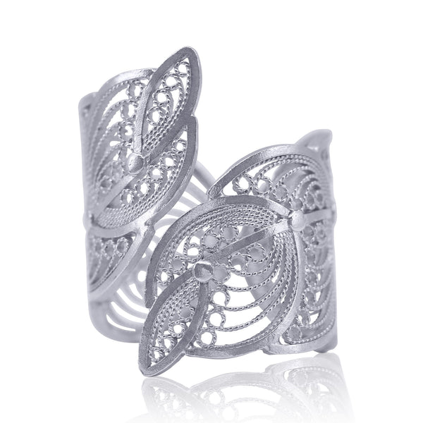 EDITH RING FILIGREE SILVER & GOLD - Olmox