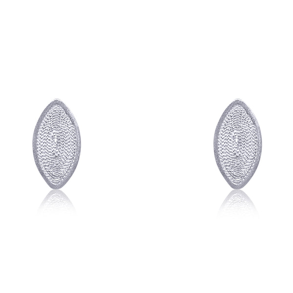 EDNA STUD EARRINGS SILVER - Olmox