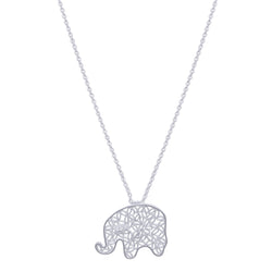 elephant pendant necklace silver pendant filigree jewelry by olmox