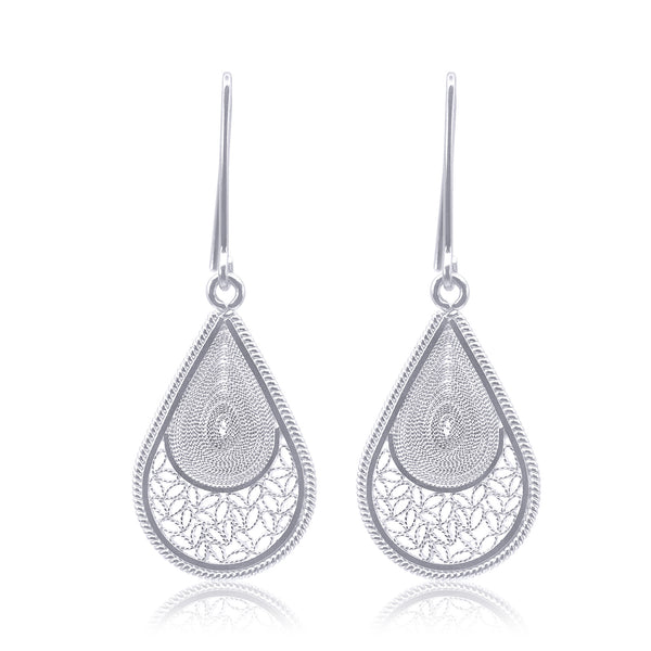 ELM MEDIUM EARRINGS FILIGREE SILVER & GOLD - Olmox