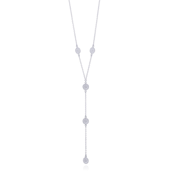 EMILY NECKLACE LONG SILVER - Olmox